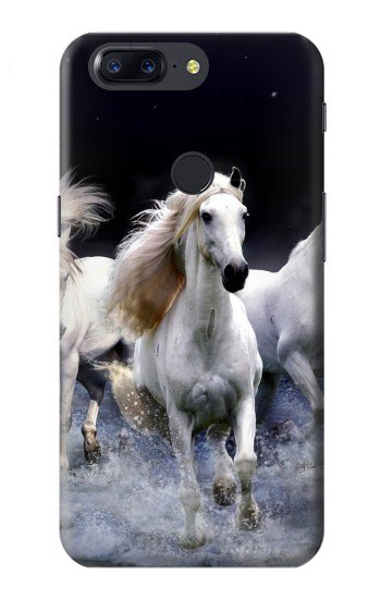 Printed White Horse OnePlus 5T Case