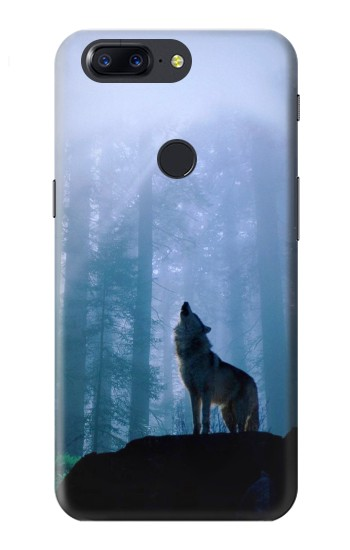 Printed Wolf Howling in Forest OnePlus 5T Case