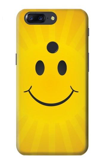 Printed Yellow Sun Smile OnePlus 5T Case