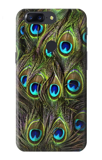 Printed Peacock Feather OnePlus 5T Case