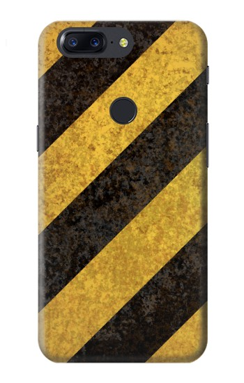 Printed Yellow and Black Line Hazard Striped OnePlus 5T Case