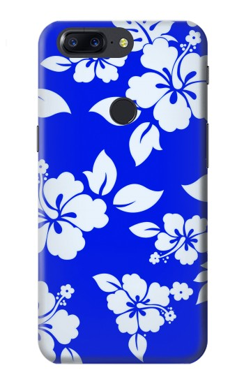 Printed Hawaiian Hibiscus Blue Pattern OnePlus 5T Case