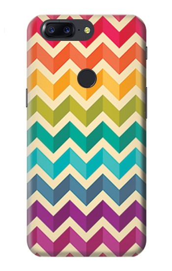 Printed Rainbow Colorful Shavron Zig Zag Pattern OnePlus 5T Case