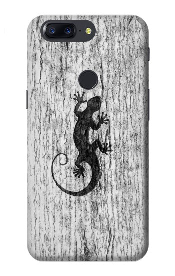 Printed Gecko Wood Graphics Printed OnePlus 5T Case