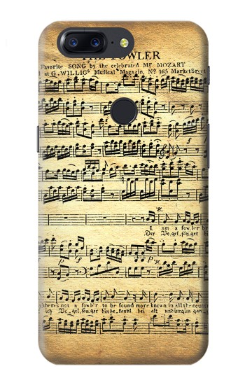 Printed The Fowler Mozart Music Sheet OnePlus 5T Case