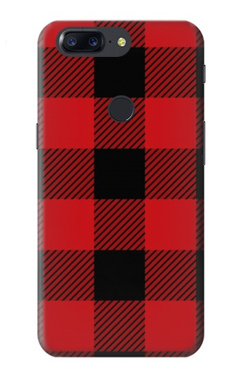 Printed Red Buffalo Check Pattern OnePlus 5T Case