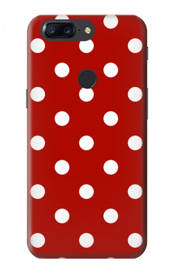 Printed Red Polka Dots OnePlus 5T Case