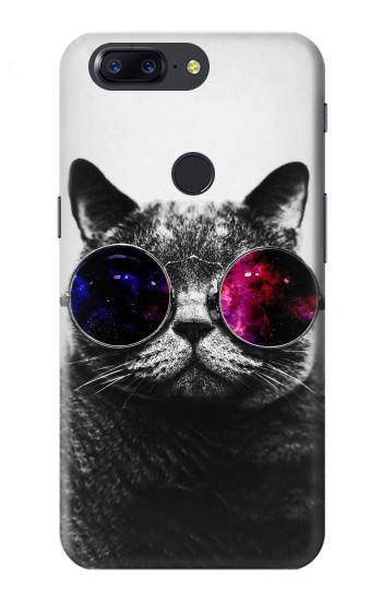 Printed Cool Cat Glasses OnePlus 5T Case