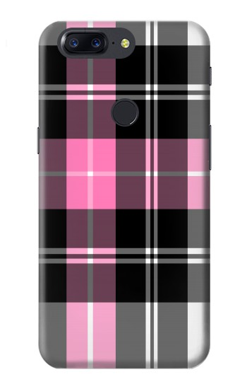 Printed Pink Plaid Pattern OnePlus 5T Case