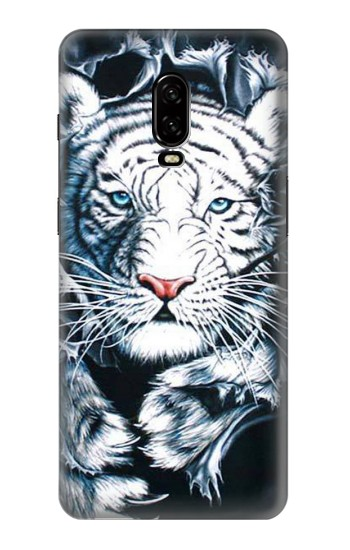 Printed White Tiger OnePlus 6T Case