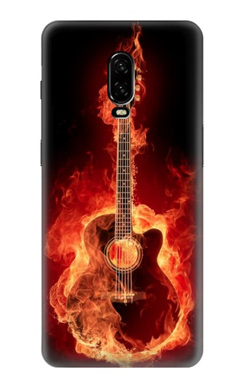 Printed Fire Guitar Burn OnePlus 6T Case
