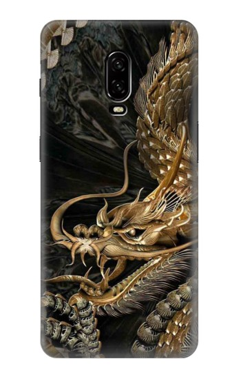 Printed Gold Dragon OnePlus 6T Case