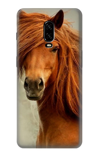 Printed Beautiful Brown Horse OnePlus 6T Case