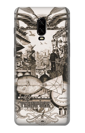 Printed Steampunk Drawing OnePlus 6T Case