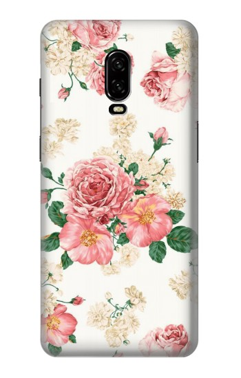 Printed Rose Pattern OnePlus 6T Case