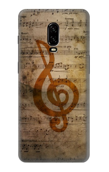 Printed Sheet Music Notes OnePlus 6T Case