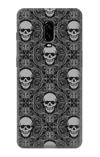 Printed Skull Vintage Monochrome Pattern OnePlus 6T Case