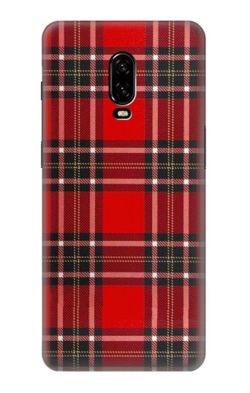 Printed Tartan Red Pattern OnePlus 6T Case