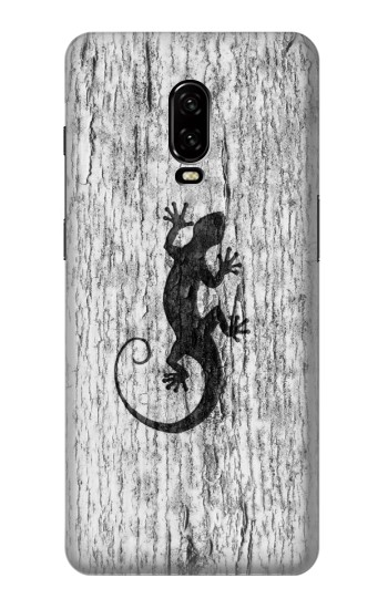 Printed Gecko Wood Graphics Printed OnePlus 6T Case