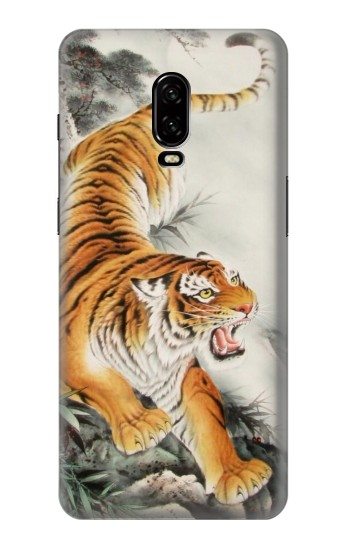Printed Chinese Tiger Tattoo Painting OnePlus 6T Case