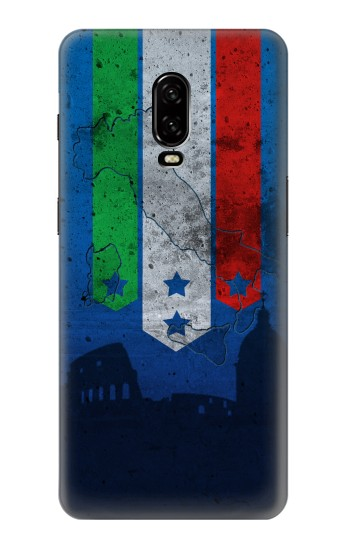 Printed Italy Football Flag OnePlus 6T Case