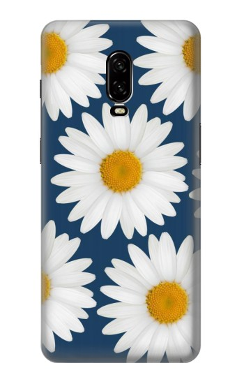 Printed Daisy Blue OnePlus 6T Case