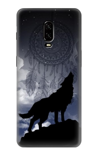 Printed Dream Catcher Wolf Howling OnePlus 6T Case