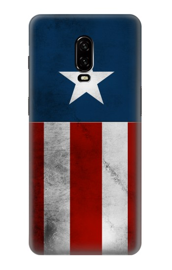 Printed Captain Star Flag of America OnePlus 6T Case