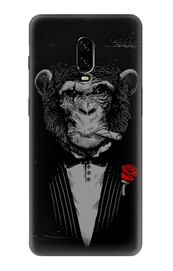 Printed Funny Monkey God Father OnePlus 6T Case