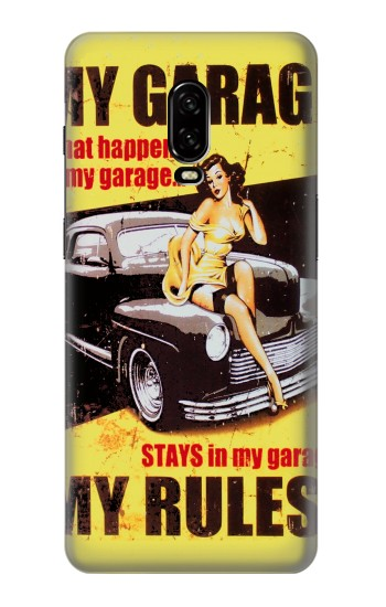 Printed My Garage Pinup Girl OnePlus 6T Case