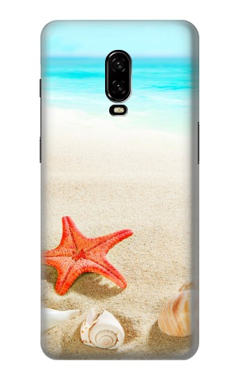 Printed Sea Shells Starfish Beach OnePlus 6T Case
