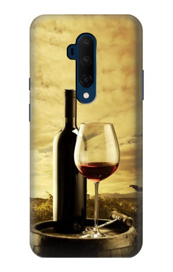 Printed A Grape Vineyard Grapes Bottle and Glass of Red Wine OnePlus 7T Pro Case