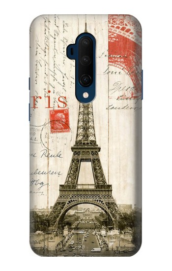 Printed Eiffel Tower Paris Postcard OnePlus 7T Pro Case