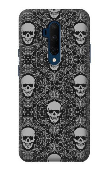 Printed Skull Vintage Monochrome Pattern OnePlus 7T Pro Case