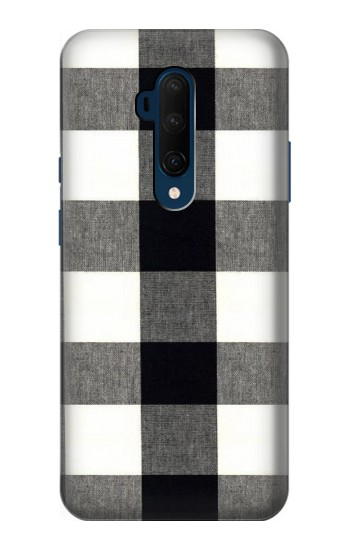 Printed Black and White Buffalo Check Pattern OnePlus 7T Pro Case
