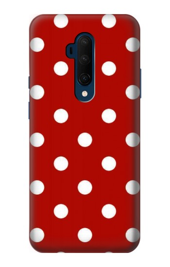 Printed Red Polka Dots OnePlus 7T Pro Case