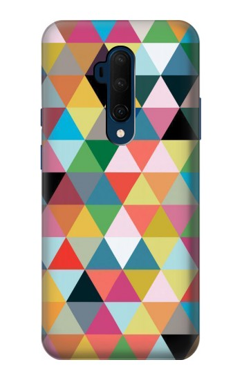 Printed Triangles Vibrant Colors OnePlus 7T Pro Case