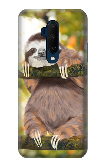 Printed Cute Baby Sloth Paint OnePlus 7T Pro Case