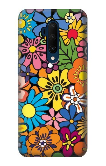 Printed Colorful Flowers Pattern OnePlus 7T Pro Case