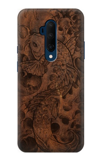 Printed Fish Tattoo Leather Graphic Print OnePlus 7T Pro Case