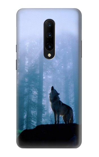 Printed Wolf Howling in Forest OnePlus 7 Pro Case