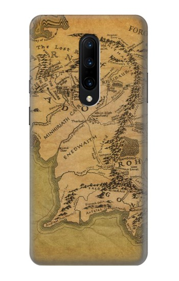 Printed The Lord Of The Rings Middle Earth Map OnePlus 7 Pro Case