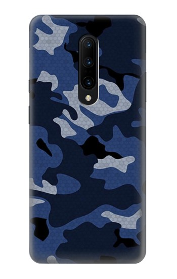 Printed Navy Blue Camouflage OnePlus 7 Pro Case