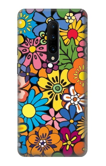 Printed Colorful Flowers Pattern OnePlus 7 Pro Case