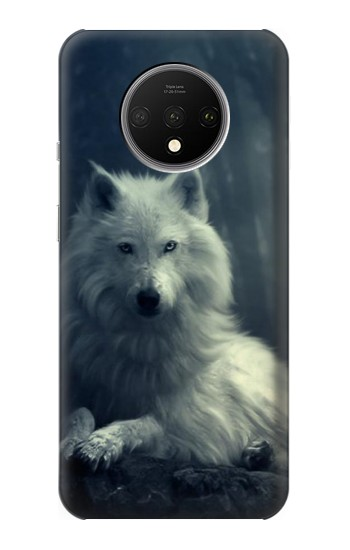 Printed White Wolf OnePlus 7T Case