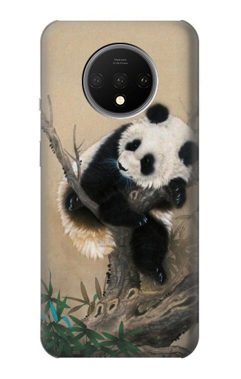 Printed Panda Fluffy Art Painting OnePlus 7T Case