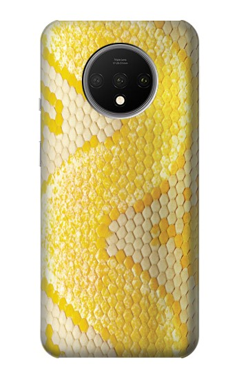 Printed Yellow Snake Skin OnePlus 7T Case