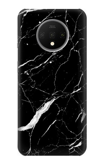 Printed Black Marble Graphic Printed OnePlus 7T Case