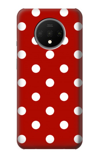 Printed Red Polka Dots OnePlus 7T Case