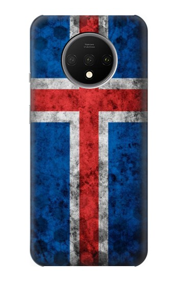Printed Iceland Football Flag OnePlus 7T Case